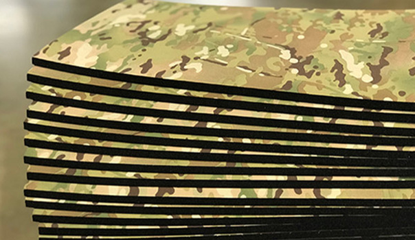 EV50 foam and Tweave Multicam® fabric