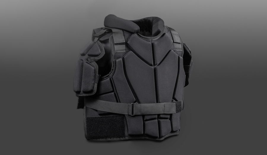 Laminated, compression molded foam riot suit padding