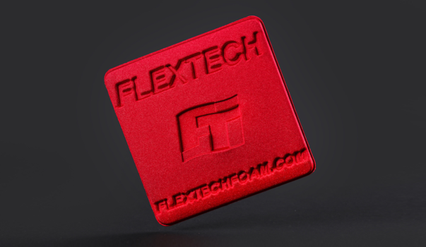 Flextech laminated, molded foam sample