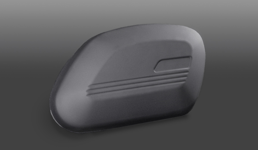 Flextech laminated, molded motorcycle pannier shell