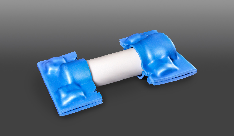 Flextech molded foam protective clamshells for medical device